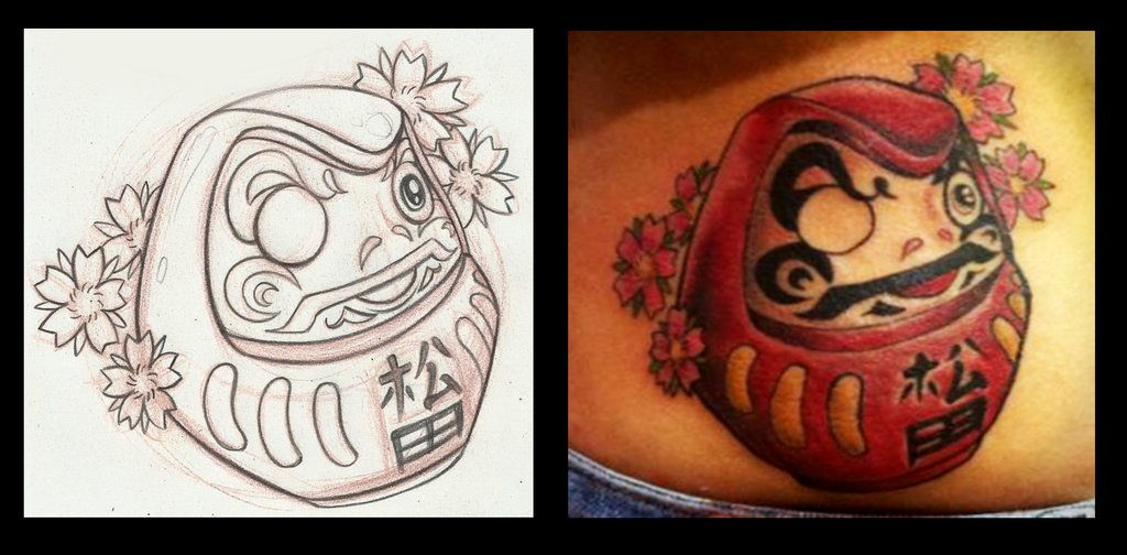 daruma tattoo by on deviantart tattoo inspiration pinterest. Black Bedroom Furniture Sets. Home Design Ideas