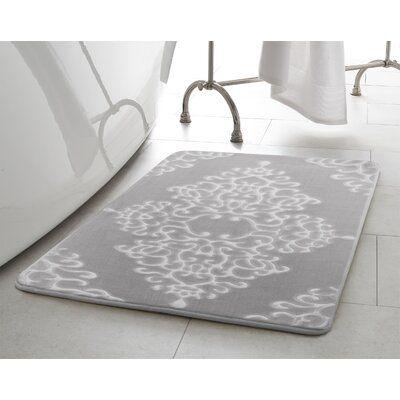 House Of Hampton Tardiff Damask Embossed Memory Foam Bath Mat