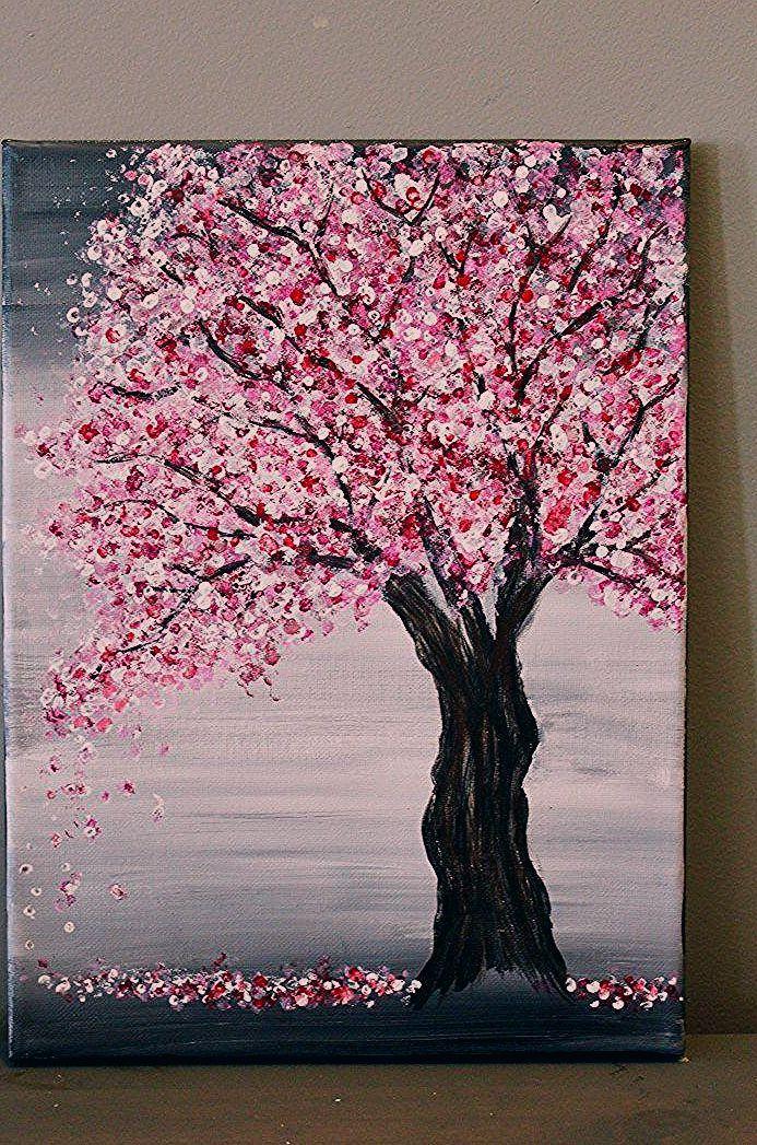 Pin By Dira Sorensen On Art Cherry Blossom Painting Acrylic Cherry Blossom Painting Acrylic Painting Canvas