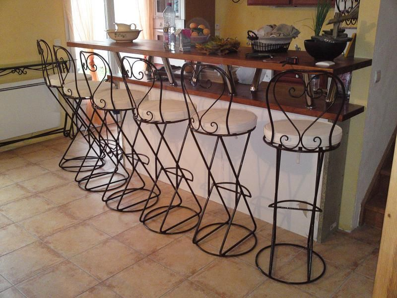 comparatif tabouret de bar fer forge