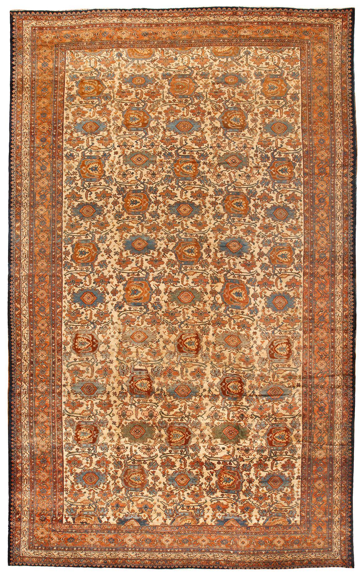 Antique Malayer Carpet 11.2 X 18.4 - Fred Moheban Gallery