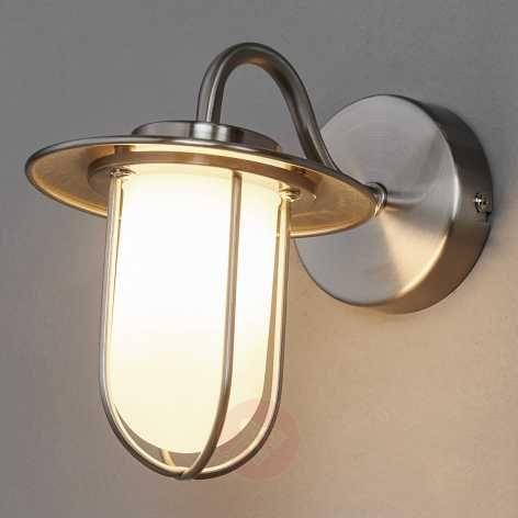 Viala Bathroom Wall Light G LED Matt NickelBathroom And Mirror - Nickel bathroom wall light fixtures
