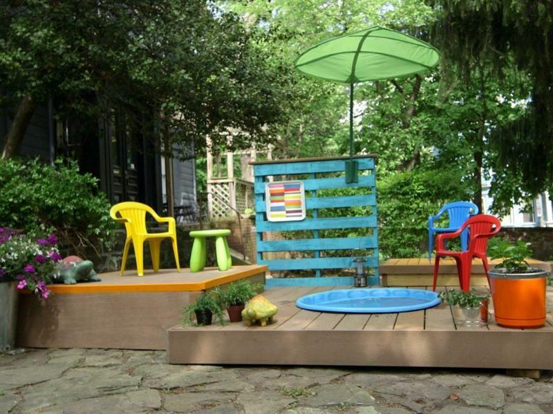 gartengestaltung mit pool f r die kinder ein mini modell. Black Bedroom Furniture Sets. Home Design Ideas