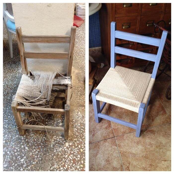 Como encordar una silla de campo el taller de lo antiguo proyectos que intentar sillas de - Como tapizar sillas de madera ...