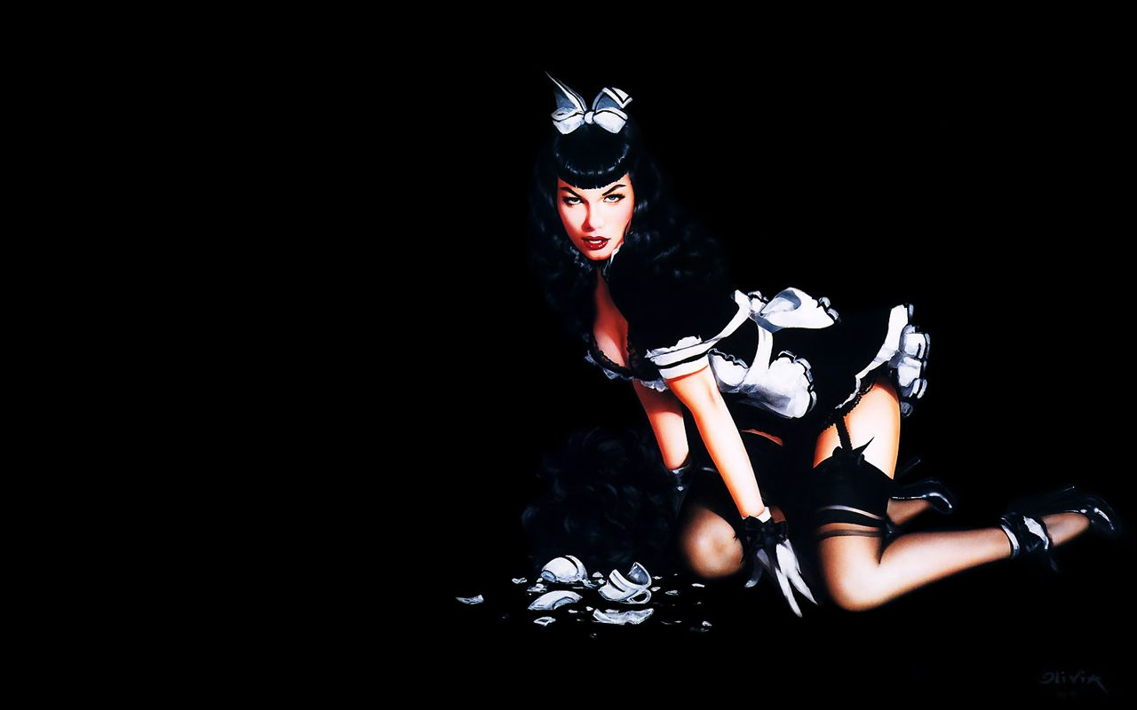Maid Betty By Olivia Pin Ups Bettie Page Maid Pin Up