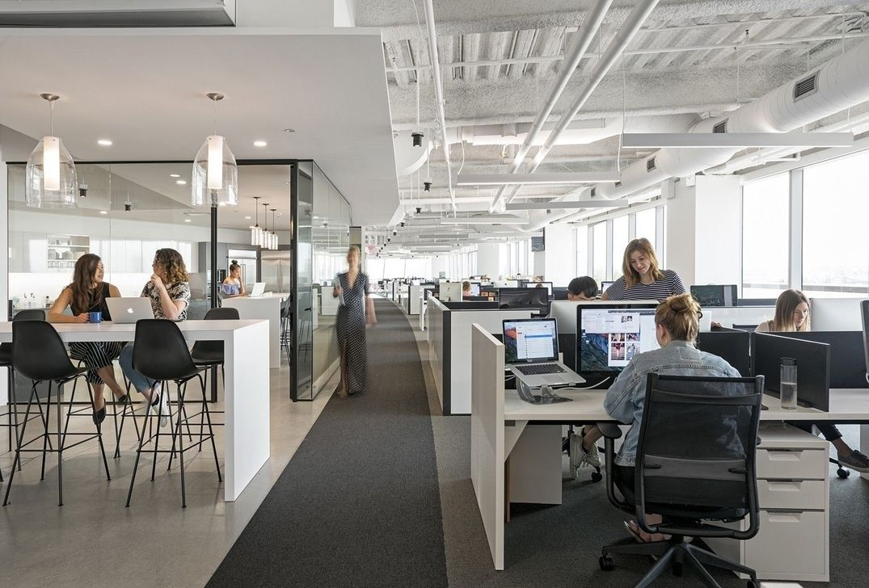 40 Elegant Open Ceiling Office Design Ideas Modern Office Interiors Commercial Office Design Office Interior Design Modern
