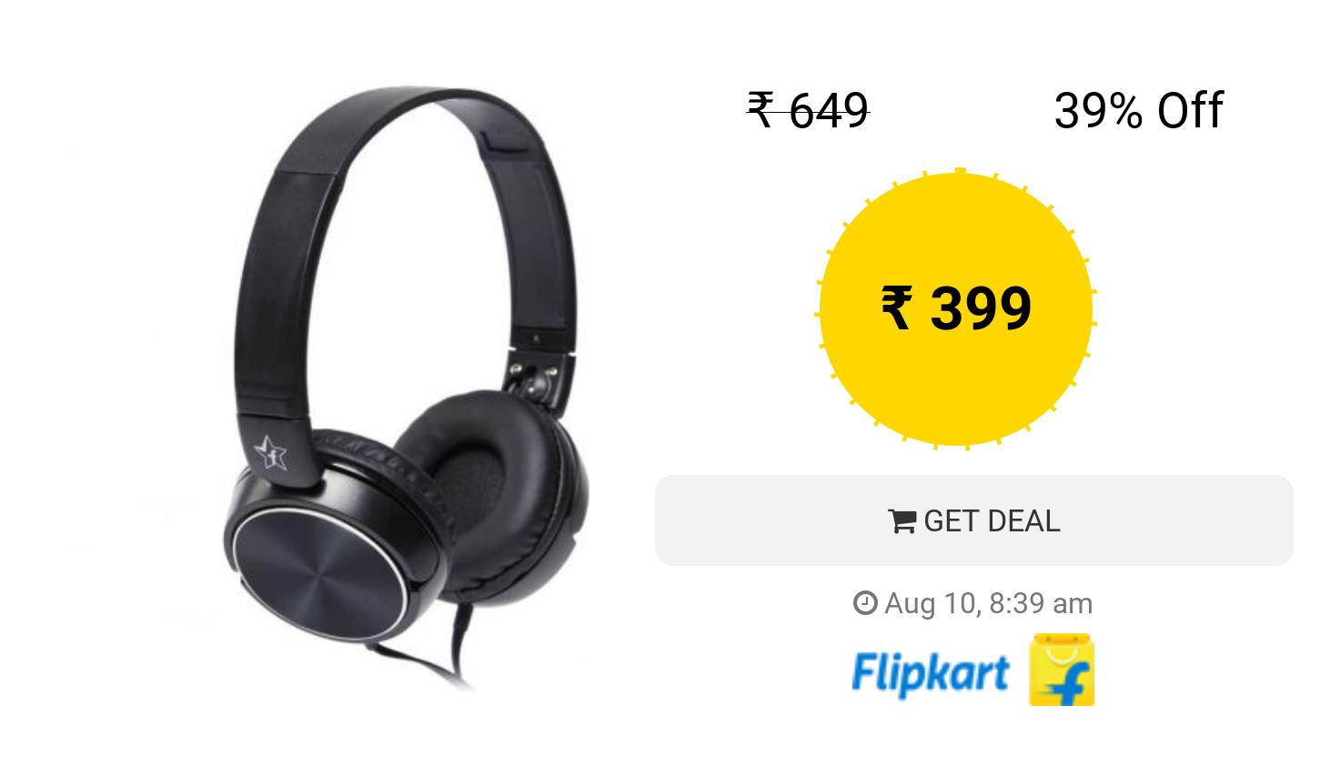 Flipkart Smartbuy Foldable Headphones Black On The Ear Black Headphones Headphones Ear