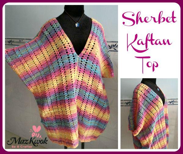 crochet sherbet kaftan top | bufanda/cowl | Pinterest | Patrones ...