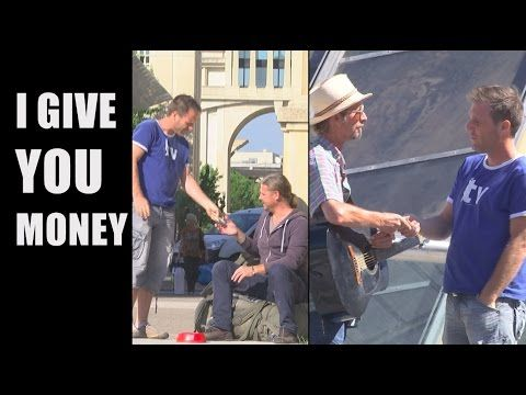 awesome Rémi Gaillard Gives Away 500 Euro To People On The Street