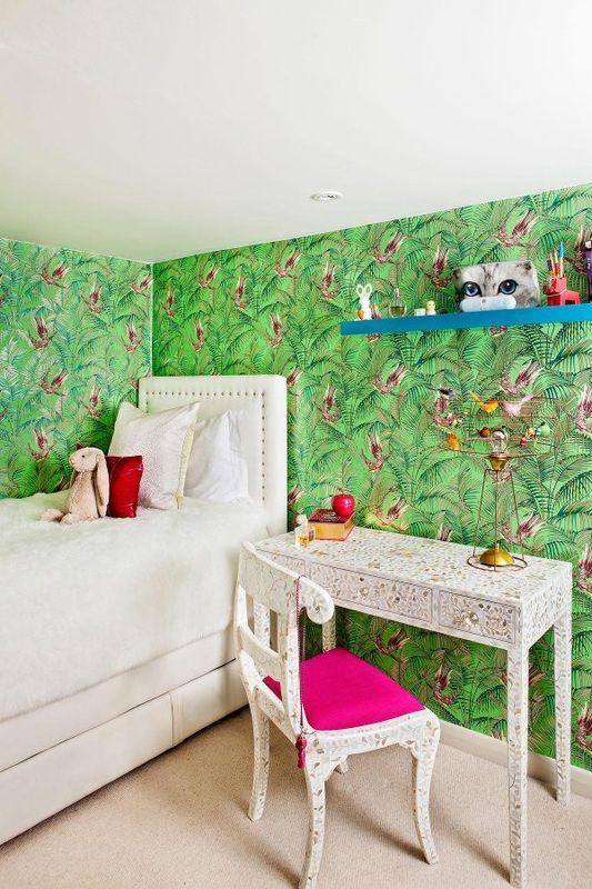 Bedroom Creator Online: Matthew Williamson - Sunbird Wallpaper