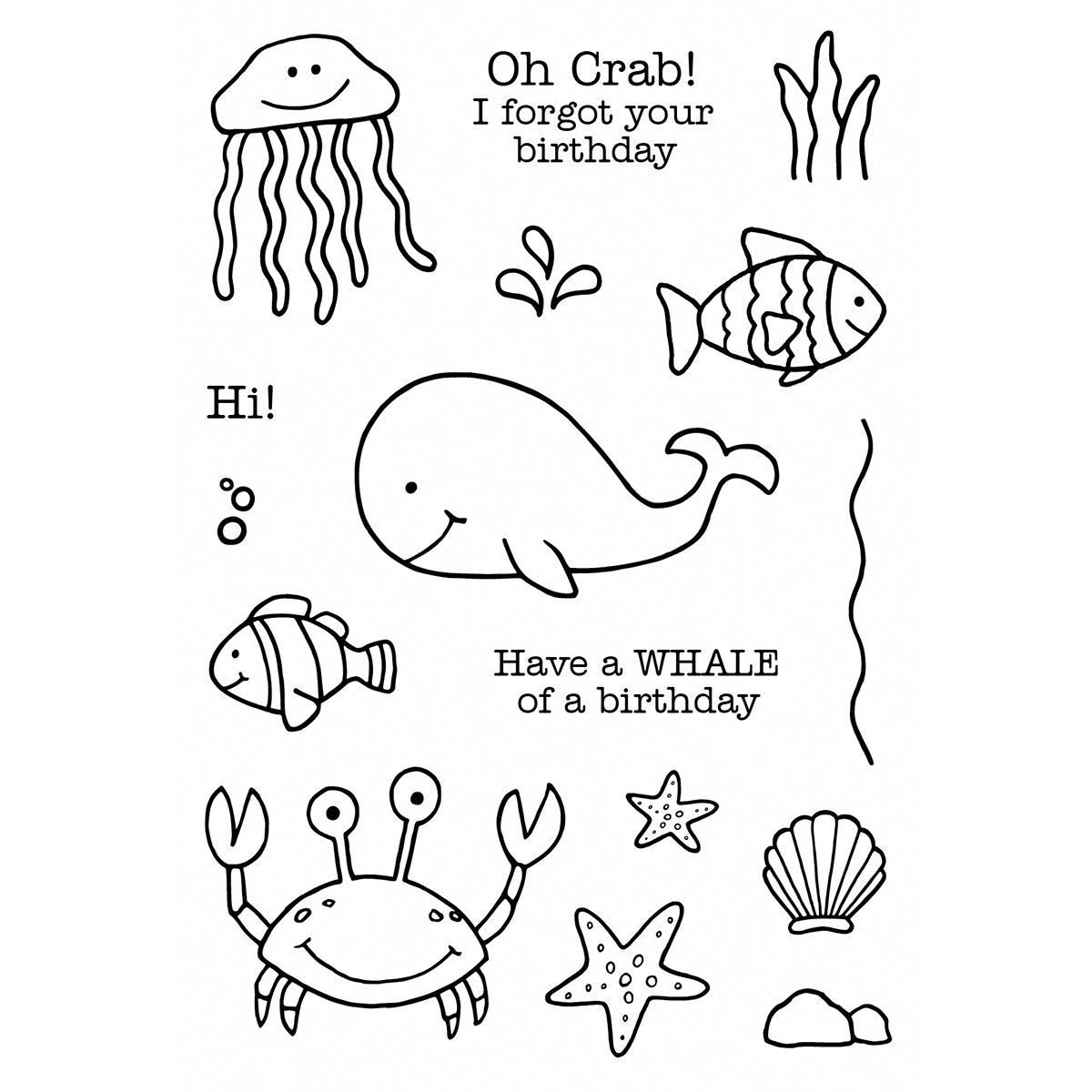 Janeus doodles clear stamps