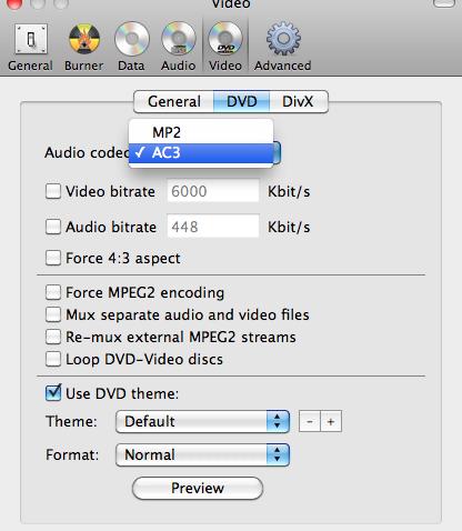 Converting Anything To Dvd On Mac Using Burn Adubvideo Dvd Divx Audio Video