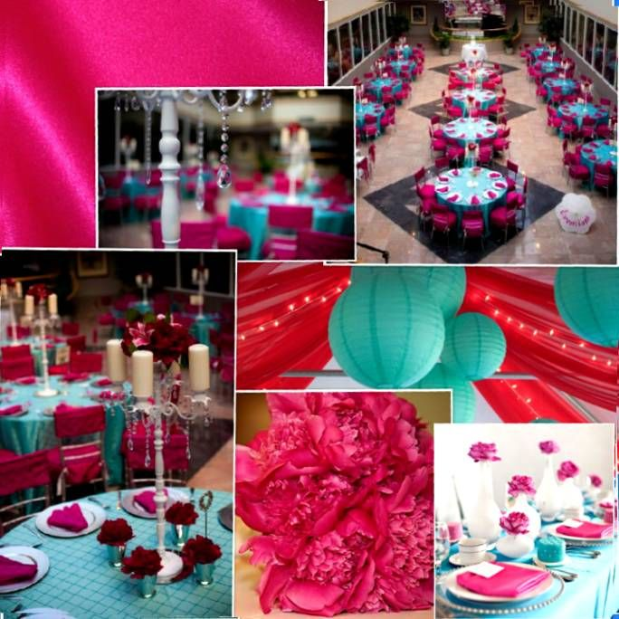 Turquoise Fuschia And Orange Wedding Colors Google Search