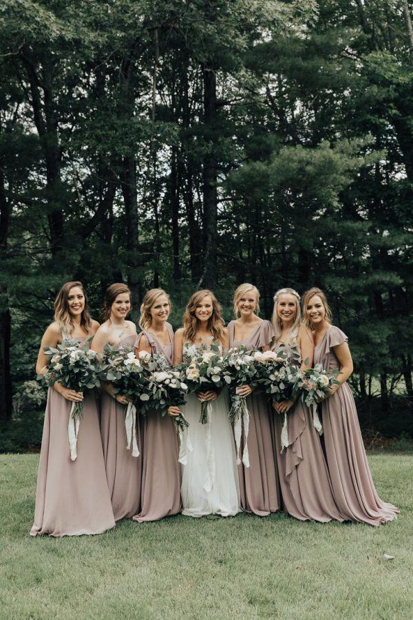 53cf49e3e9f Taupe bridal party  wedding  weddings  weddinginspiration  aislesociety   engaged  neutralwedding