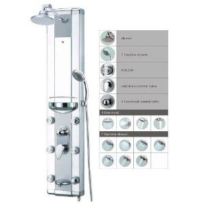 "SALE!! Blue Ocean 50"" Aluminum SPA708 Shower Panel with Rainfall Shower Head, 6 Mist Nozzles, and Spout REVIEW"