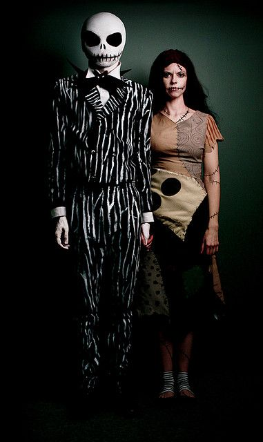 This.    Jack and Sally from the Nightmare Before Christmas Halloween Costumes Inspired by Tim Burton by Jesse Draper, via Flickr