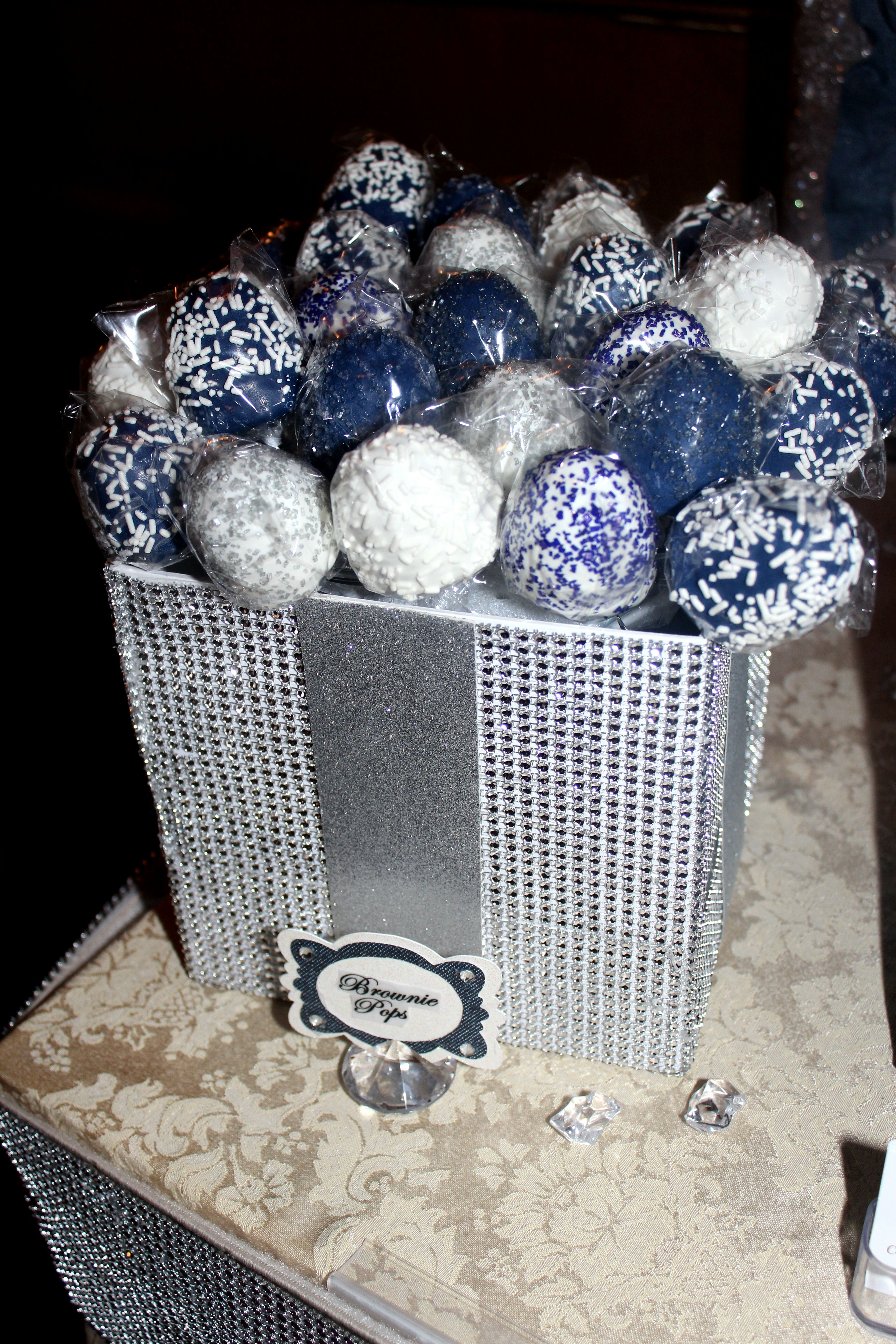 Brownie Pops Denim Amp Diamonds Candy Table In 2019