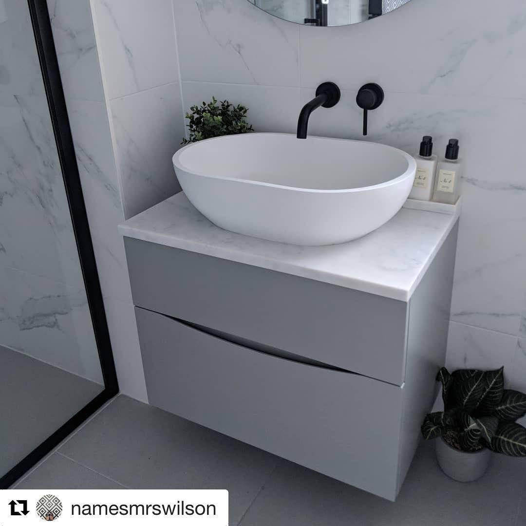 Crosswater Bathrooms On Instagram The Perfect Pairing Of Our Storm Grey Glide Unit Marble Worktop A In 2020 Matte Black Bathroom Tv Room Design Grey Marble Bathroom