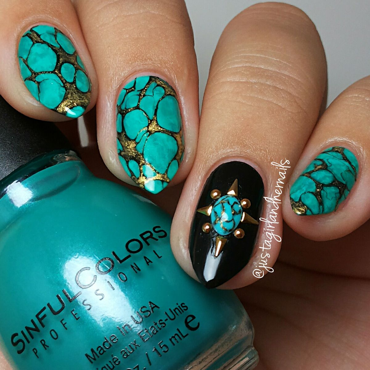 32 Turquoise Nails Summer Nail Art | Art tutorials, Turquoise and ...