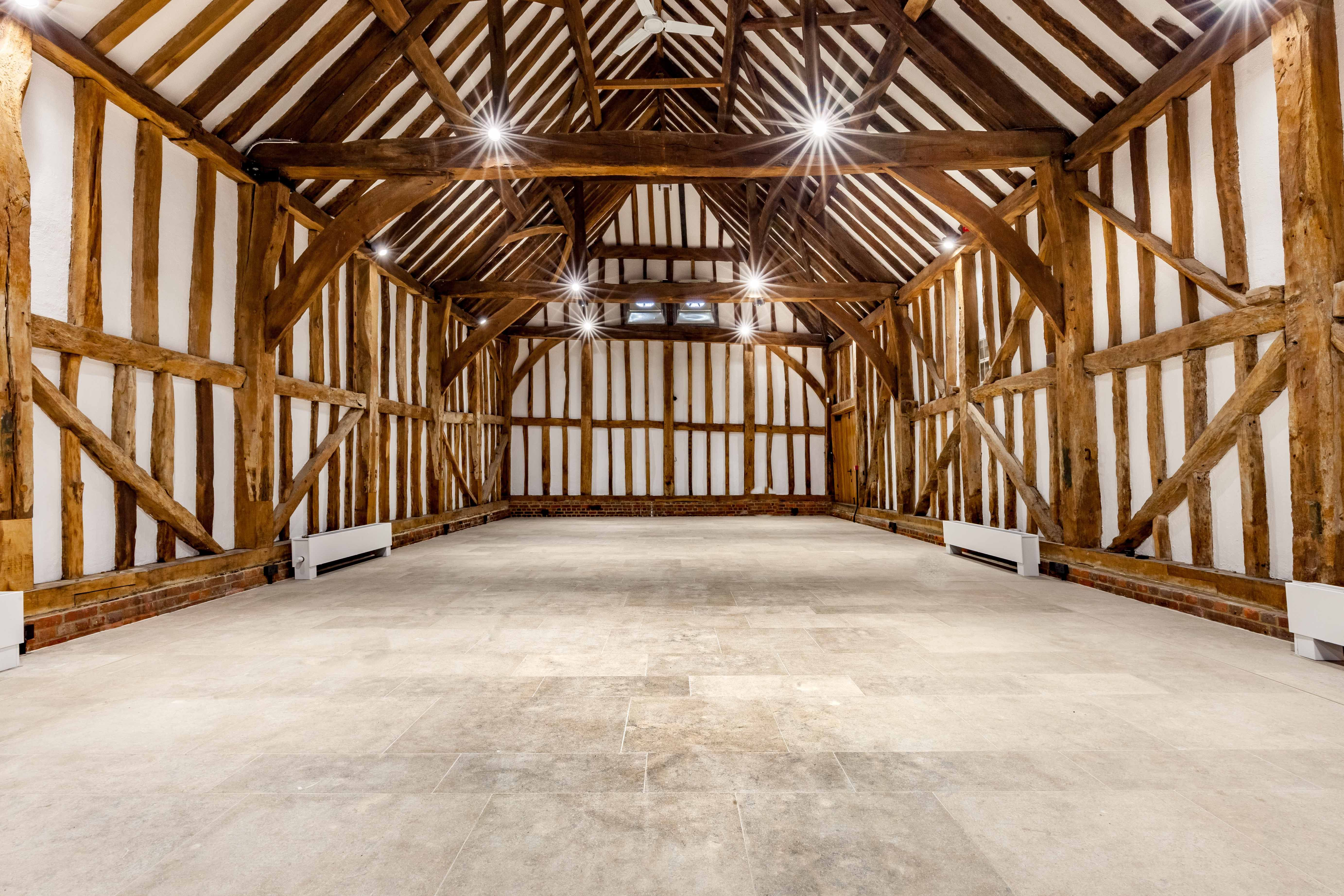 A Beautiful Wedding And Event Venue At Headstone Manor The Barn Features Natural Stone Floor Tiles From Solar Range Pinterest Stones