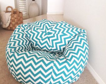 Bean Bag Mint Green Zig Zag Adults Teenagers By Mybeachsidestyle