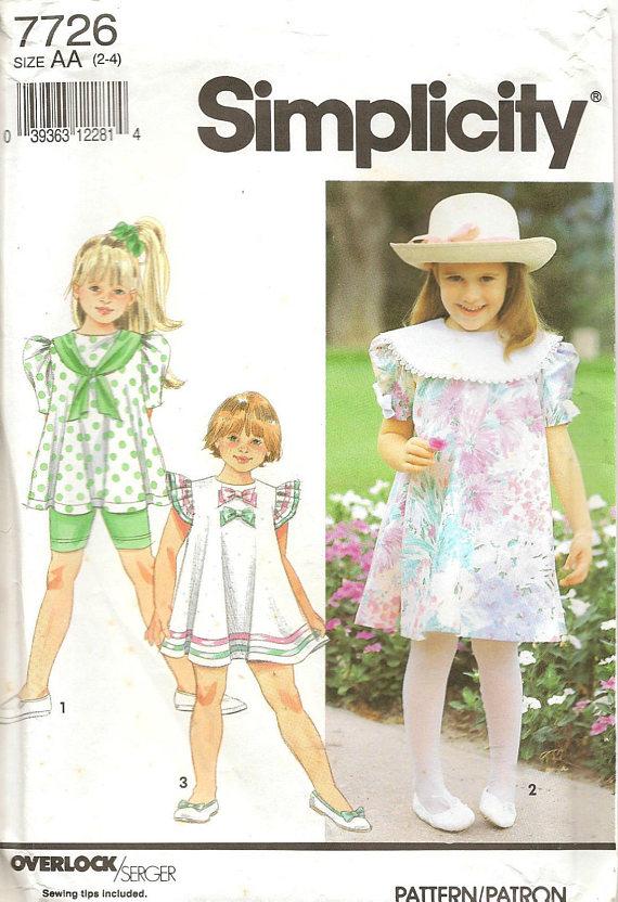 VSCO Girls McCalls 7102 Elastic Legs Kids Summer Fashion 1990s Sewing Patterns 90s Girls Dress Jumpsuit Romper 2 Lengths Size 10