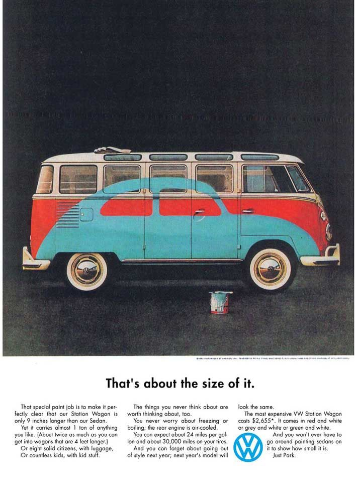 Volkswagon Advert Bill Bernbach Ads Pictures Copy
