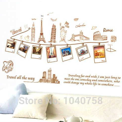 Pvc removable large wallpaper world map wall sticker poster home pvc removable large wallpaper world map wall sticker poster home decoration travel photo frame wall decals gumiabroncs Images