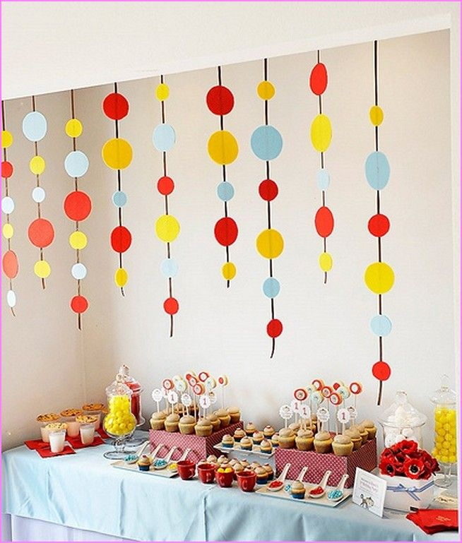 Second Home Decorating Ideas: Baby Birthday Decoration Ideas At Home Decoration Natural