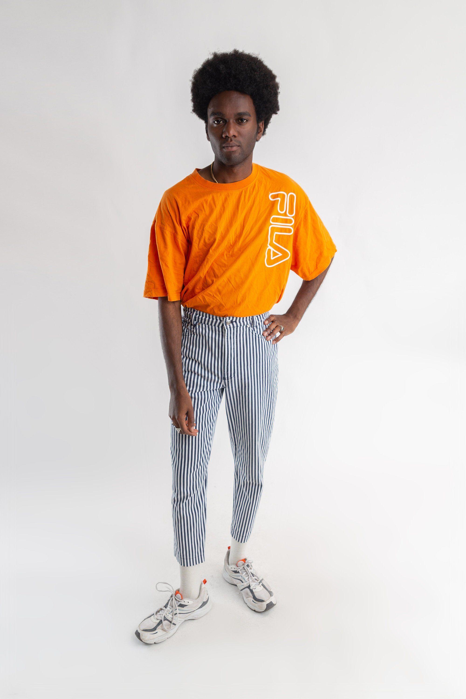 Vintage orange Fila T-shirt   Oversized 90s Fila tee   Vintage Fila men s T- shirt   Vintage orange and white Fila women s tee   Size XXL by LHITW on  Etsy ... 3636997b9c