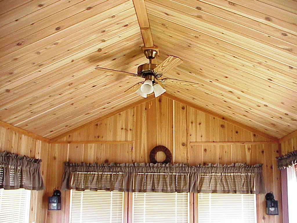 Cabin ceilings forest river nd 38 cedar log cabin for Log ideas