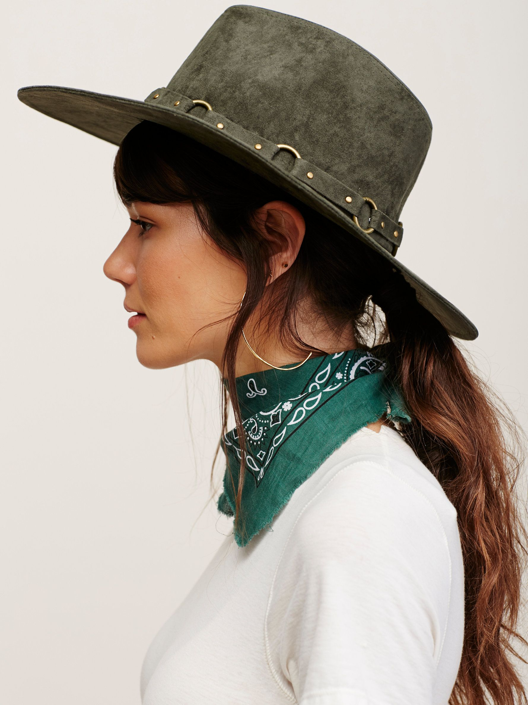 Ring leader faux suede hat clothes pinterest suede hat metal jpg 1780x2375  Rancher style clothing ae36e3144da4