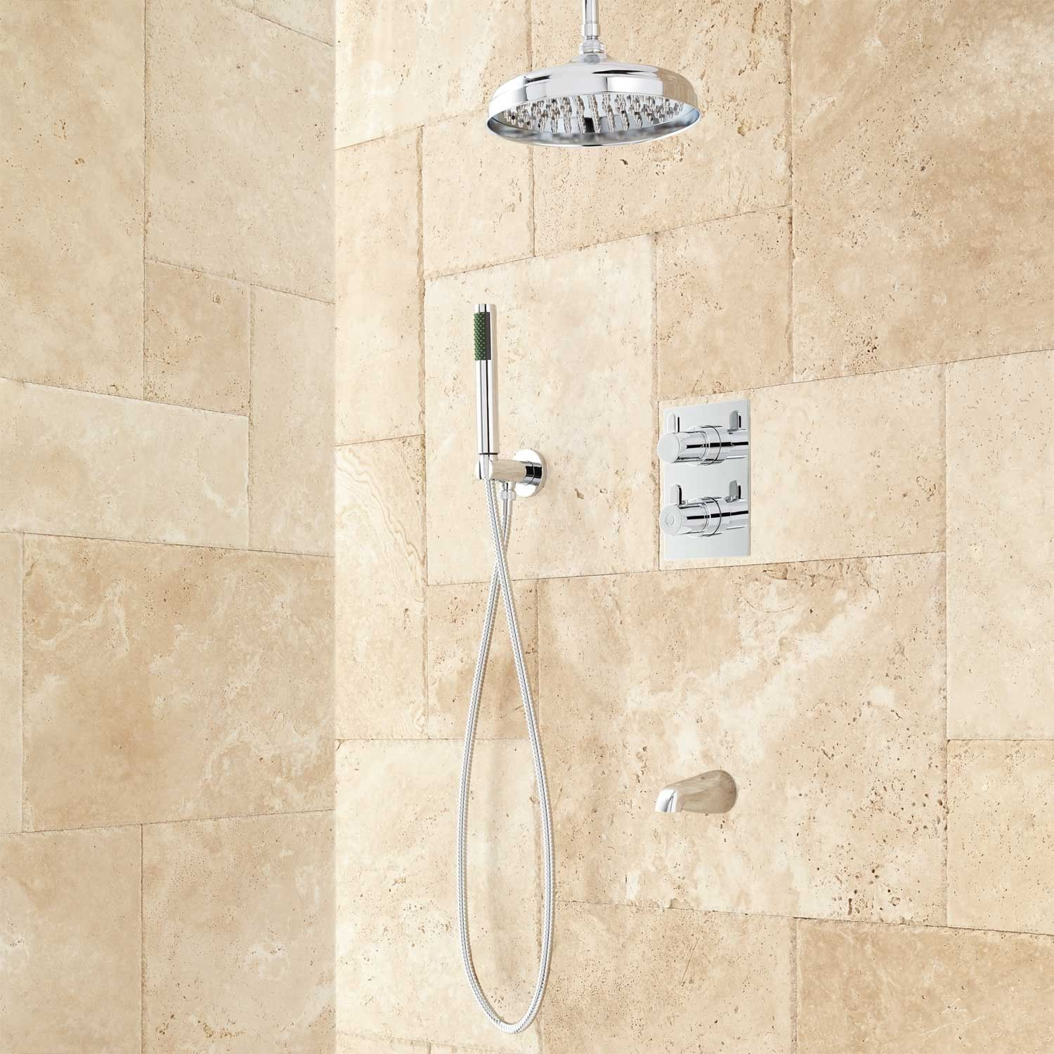 Hinson Tub and Rainfall Shower System with Hand Shower | KITCHEN ...