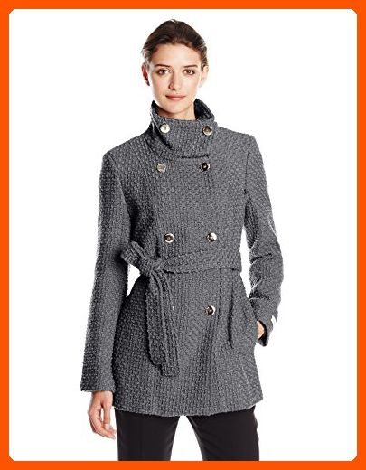 aa544d01acd Calvin Klein Women s Double Breasted Wool Coat with Belt