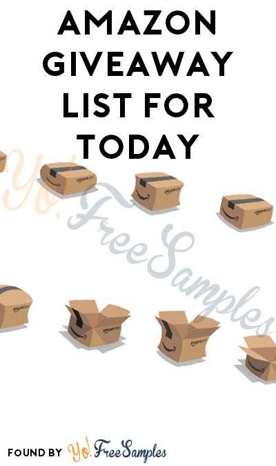 Amazon giveaway list