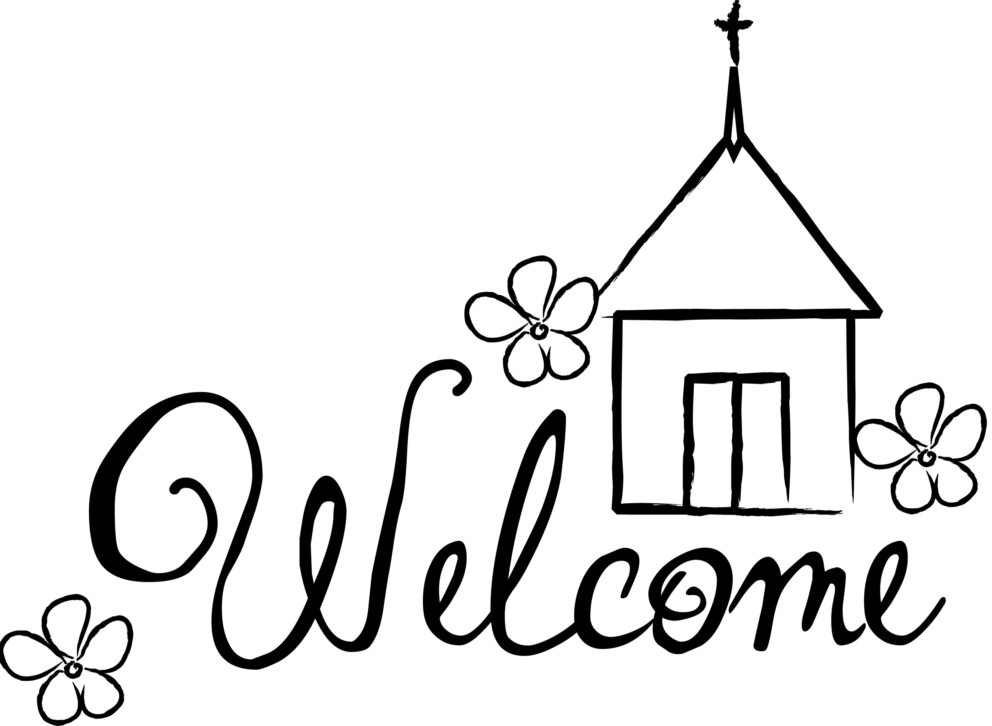 50 Ways To Welcome Your New Pastor Family Clipart Black And White Words Clip Art