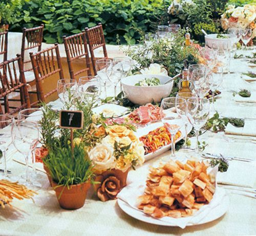 Food At Wedding Receptions: Trend Alert: Family-Style Dinners For Wedding Receptions