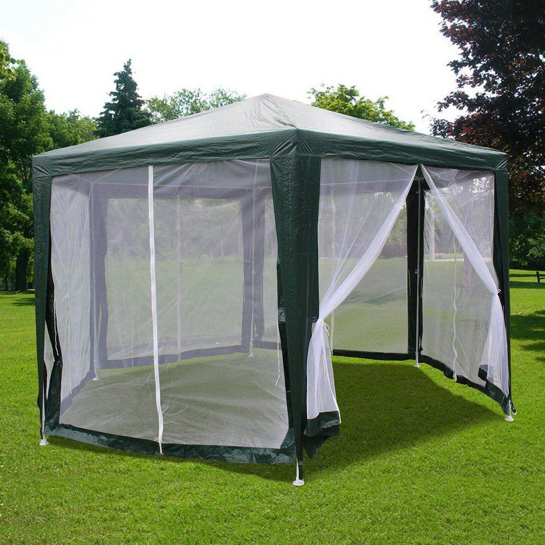 Amazon Com Quictent 6 6 X6 6 X6 6 Outdoor Hexagon Canopy Party Tent Gazebo Sun Shade Shelter Screen House With Fully Enclosed Screen House Gazebo Party Tent