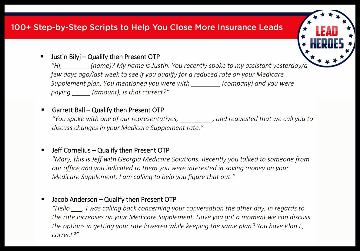 100 Insurance Sales Scripts Ebook Grab Your Free Copy Today Insurance Sales Insurance Medicare Supplement