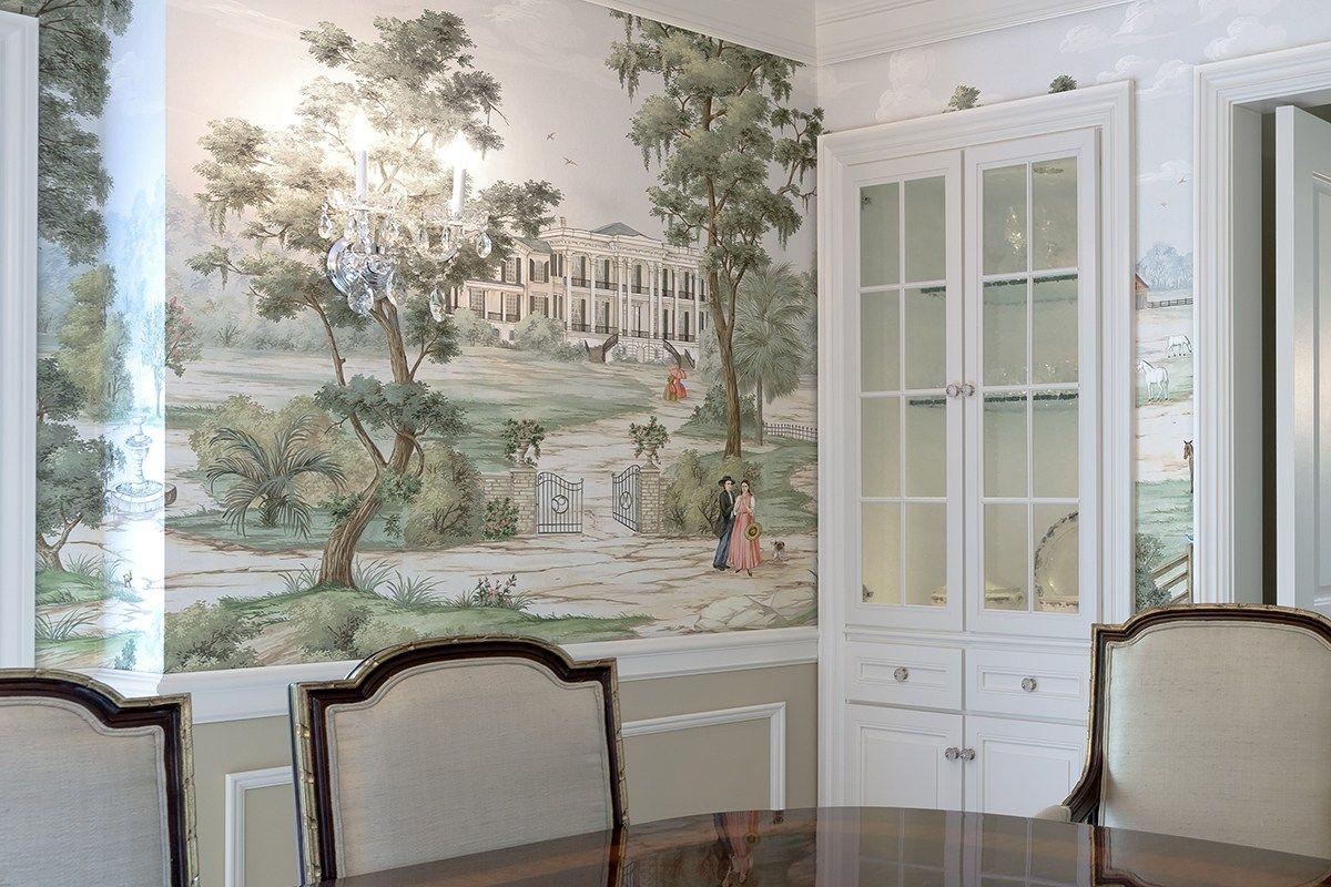 DIXIE PaulMontgomery Scenic wallpaper, Dining room