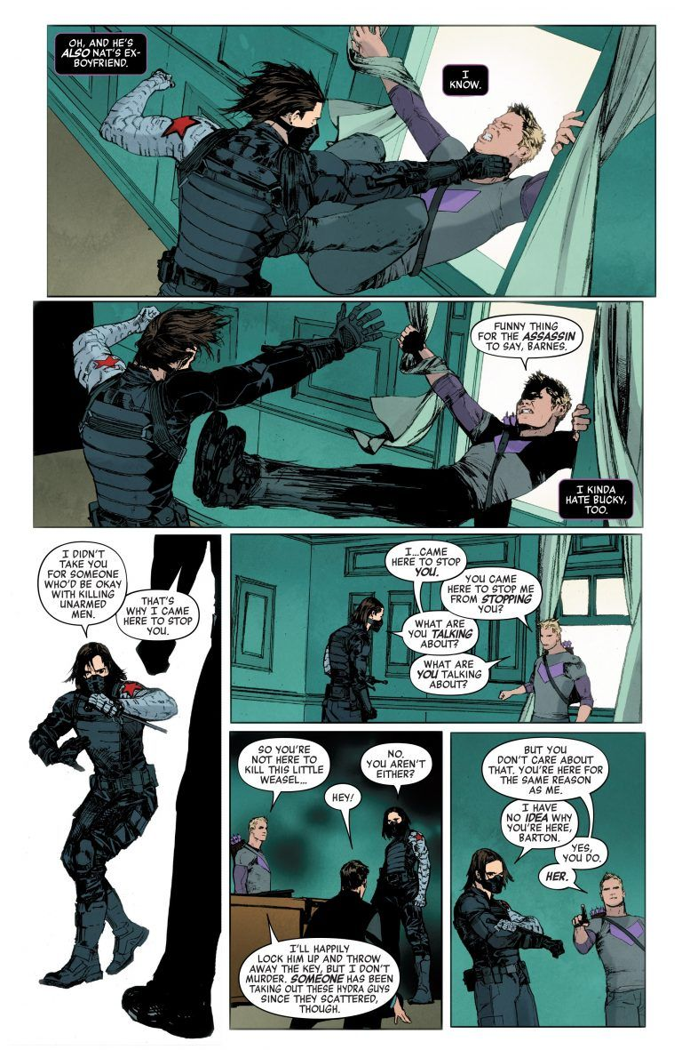 Marvel Comics Legacy Spoilers Tales Of Suspense 100 Featuring Hawkeye The Winter Soldier In Search Of The Avengers Own Black Widow Inside Pulse Fumetti