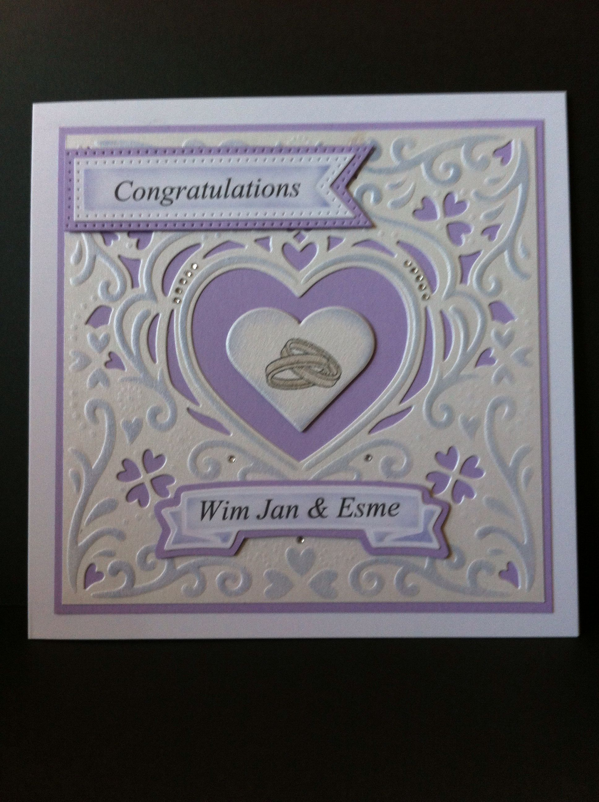 another card using die'sire romance die ce pierced flags