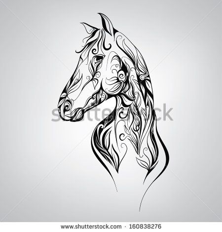 Mustang Horse Head Silhouette Silhouette Of A Horse In