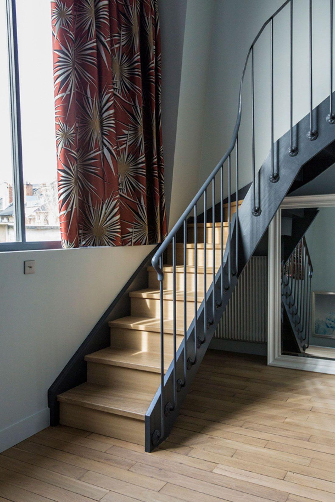 Paris joyeux m lange escaliers maison architecte - Architecte interieur paris petite surface ...