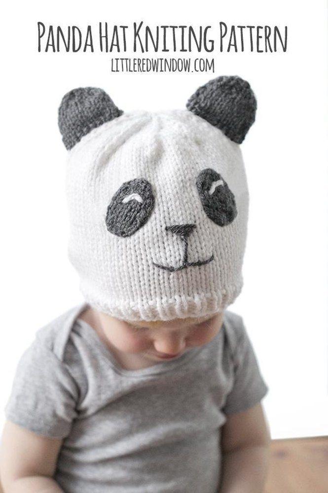 Adorables modelos de gorros tejidos de panda para tu bebé | gorros ...