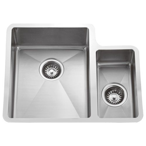Fennel Stainless Steel 24 Inch 70 30 Offset Double Bowl Undermount