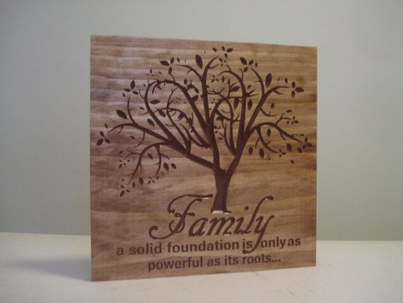 Family Tree Wedding Gift: Mother's Day Gift Personalized Sign Carved Wooden Last