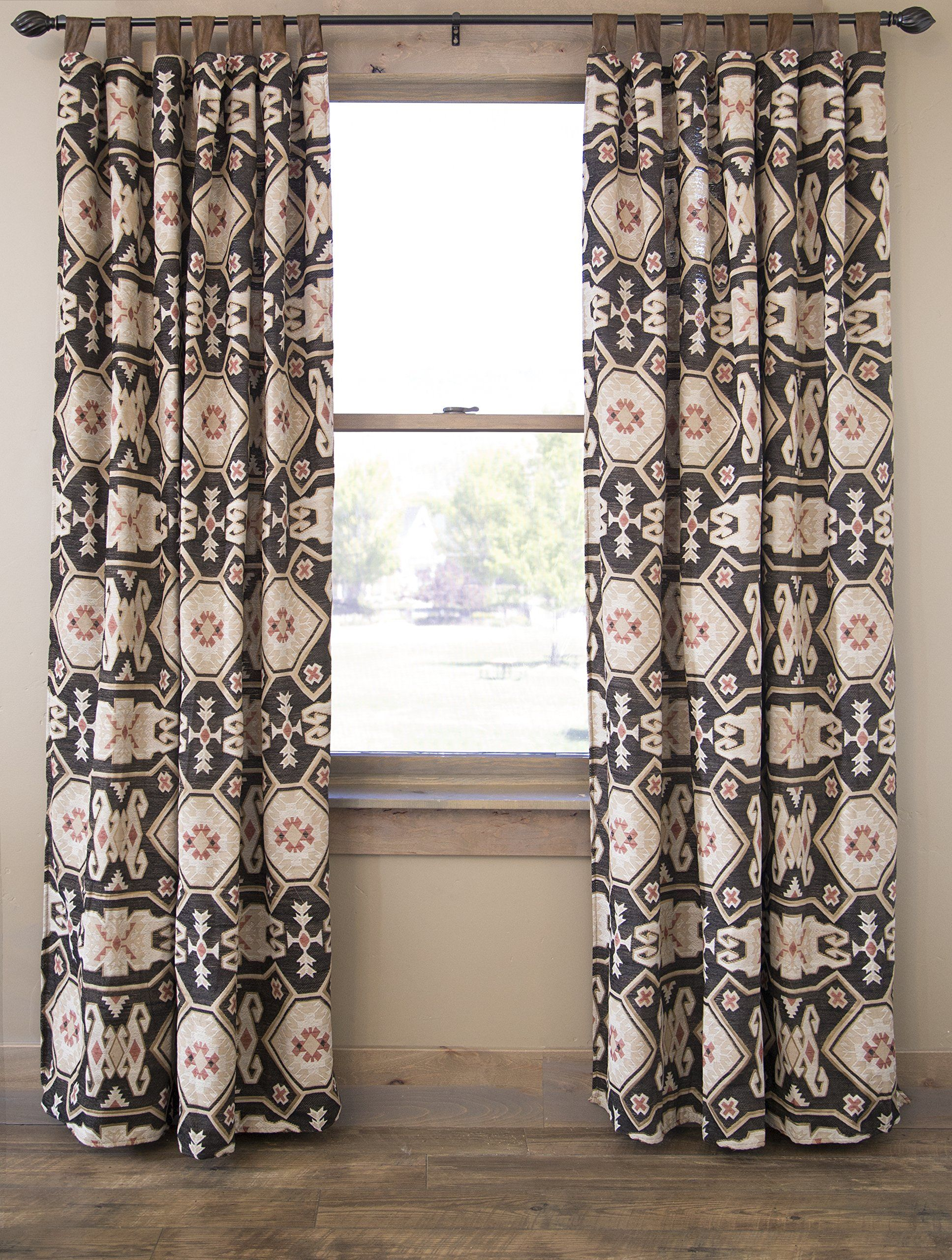 Tab Top Curtains Amazon Southwestern Curtain Panels Set Of 2 54 X 84 Tab Top Drapes By