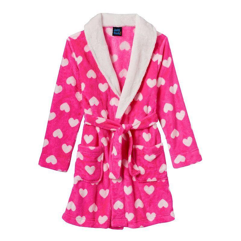 4be57213f5cb Girls 4-16 Jelli Fish Print Fleece Bath Robe