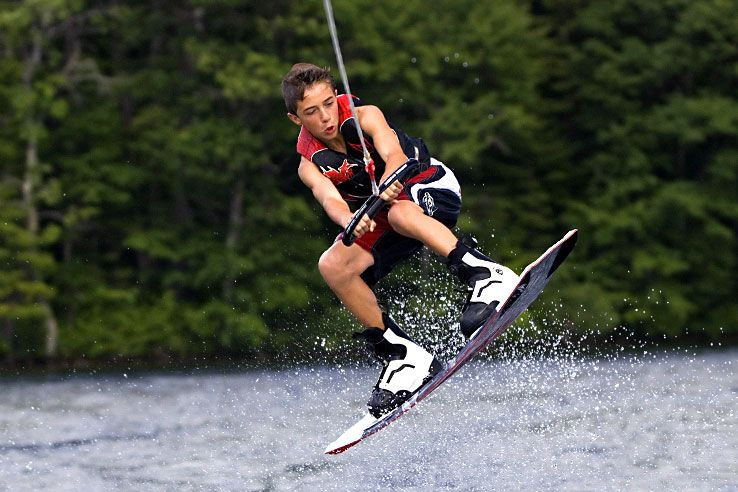 Water sports at Camp Laurel South, a coed summer camp